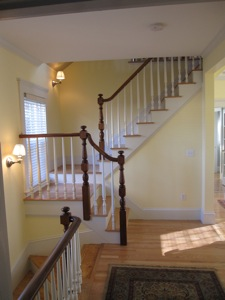 custom banister replication for new stairs